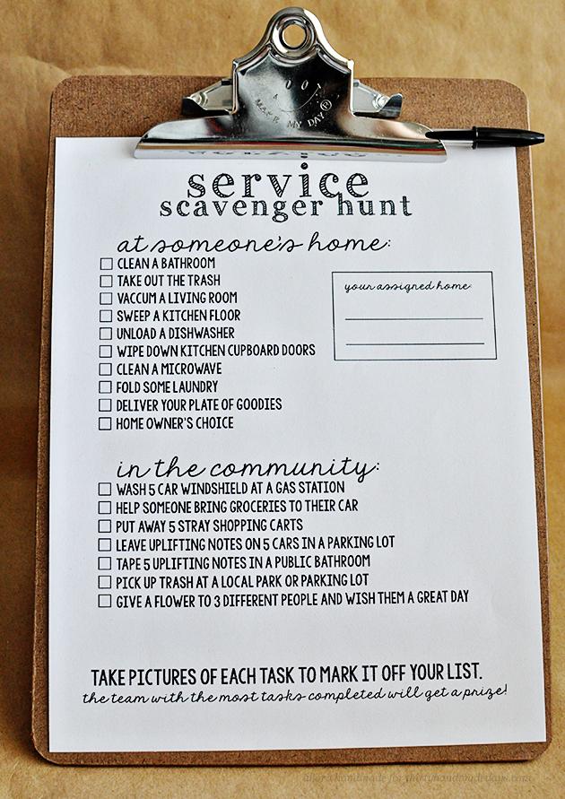 servicescavengerhuntchecklist